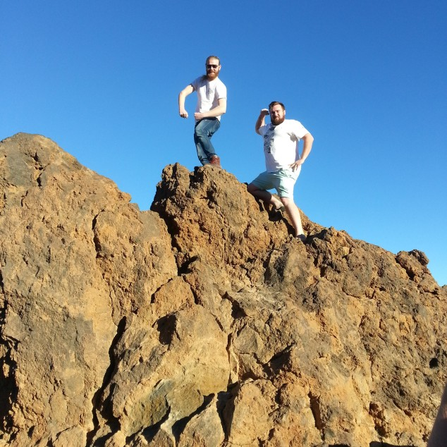 Weird Fish Boys up Mount Teidi