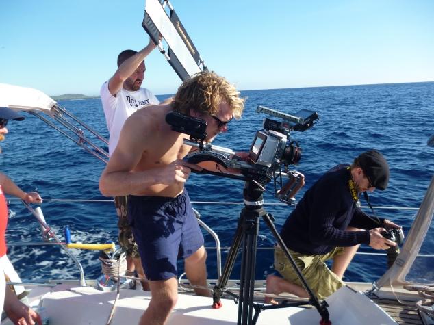Callum filming