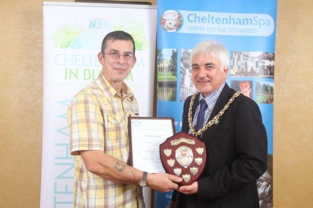 Ron receiving his award